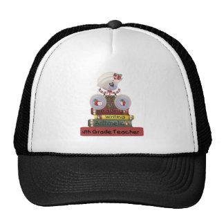 Reading, Writing, Arithmetic 4th Grade Teacher Trucker Hats