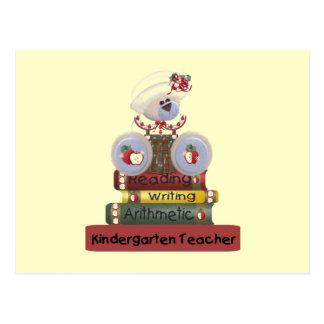 Reading, Writing, Arithmetic Kindergarten Teacher Postcard