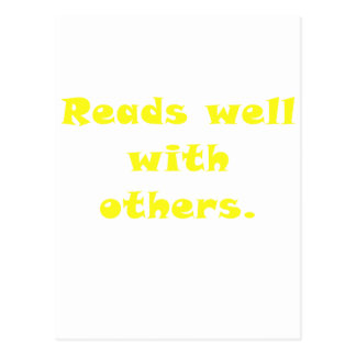 Reads Well With Others Postcard