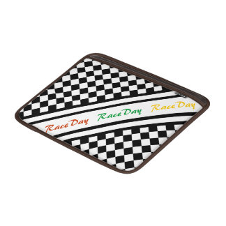 Ready 4 Race Day Classic Racing Check Black White MacBook Air Sleeve