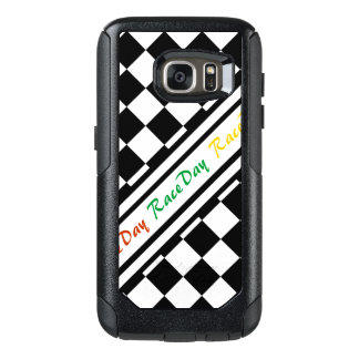 Ready 4 Race Day Classic Racing Check Black White OtterBox Samsung Galaxy S7 Case