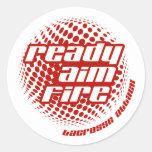 Ready Aim Fire Classic Round Sticker