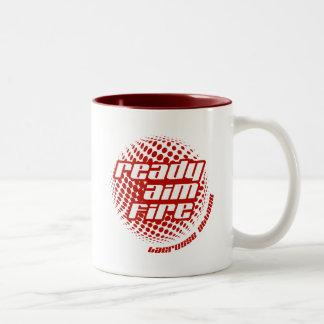 Ready Aim Fire Two-Tone Coffee Mug