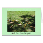 Ready For A Game of Croquet ? Stationery Note Card