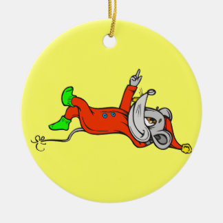 Ready For Bed Mouse Double-Sided Ceramic Round Christmas Ornament
