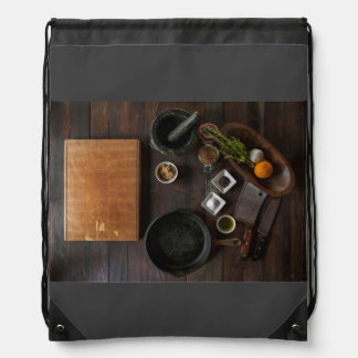 Ready for cooking drawstring bag