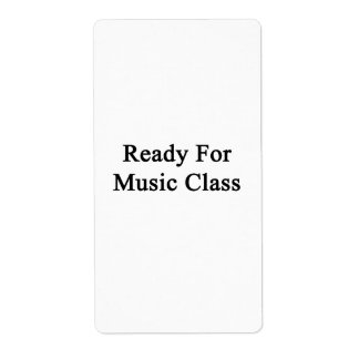 Ready For Music Class Custom Shipping Label