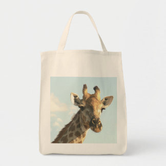 """READY FOR MY CLOSE-UP"" GIRAFFE GROCERY TOTE (PHOT"