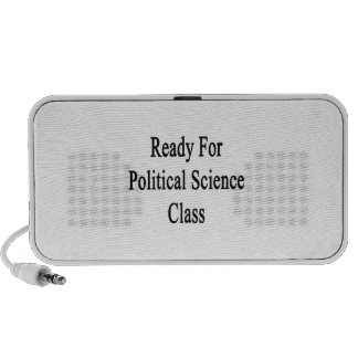 Ready For Political Science Class Travel Speaker