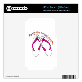 Ready For Sandal Season. Decals For iPod Touch 4G