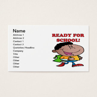 Ready For School 2 Business Card