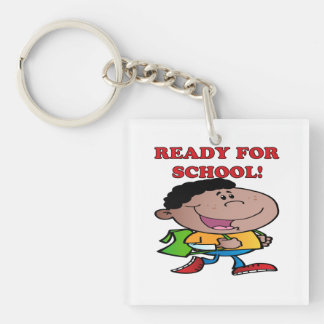 Ready For School 2 Double-Sided Square Acrylic Keychain