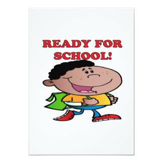 "Ready For School 2 5"" X 7"" Invitation Card"