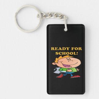 Ready For School 3 Double-Sided Rectangular Acrylic Keychain
