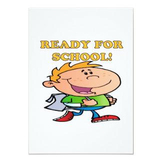 "Ready For School 3 5"" X 7"" Invitation Card"