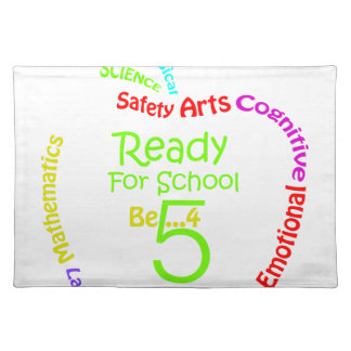 Ready for School B4Five - Apple Cloth Placemat