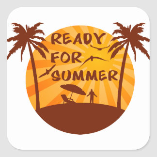 Ready for summer square sticker