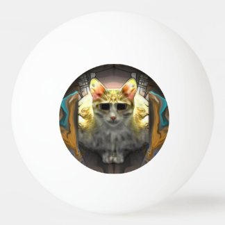 Ready for take off Cool Cat1 Ping Pong Ball