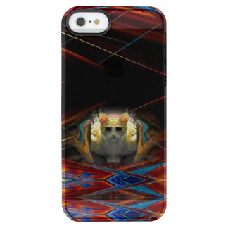Ready For Take Off Cool Cat Clear iPhone SE/5/5s Case