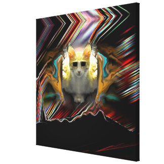 Ready for take off Cool Cat Wrapped Canvas Print