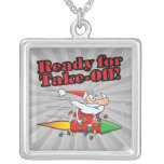 ready for take off rocket santa cartoon custom jewelry