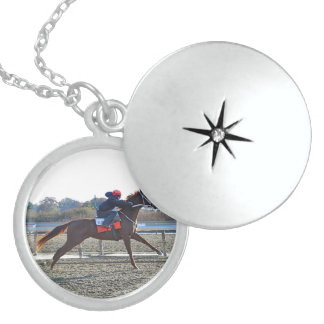 Ready for Take Off Round Locket Necklace