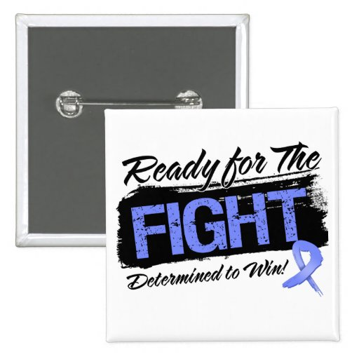 Ready For The Fight Intestinal Cancer 2 Inch Square Button