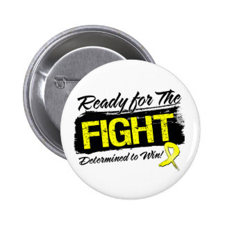 Ready For The Fight Sarcoma Cancer Pinback Button