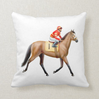 Ready for the Horse Race Pillow
