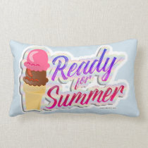 Ready For The Summer Ice Cream Cones Lumbar Pillow