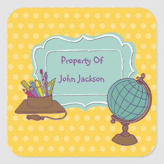 Ready For The World Personalized Bookplate Sticker