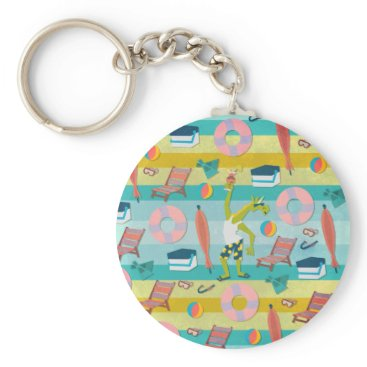 Beach Themed Ready For Unicorn Summer Keychain