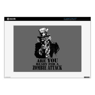 """Ready For Zombie Attack 15"""" Laptop Skin"""