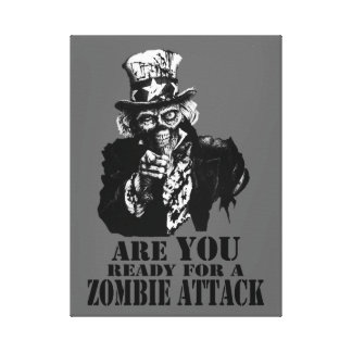 Ready For Zombie Attack Canvas Print
