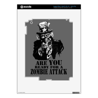 Ready For Zombie Attack Decals For iPad 3