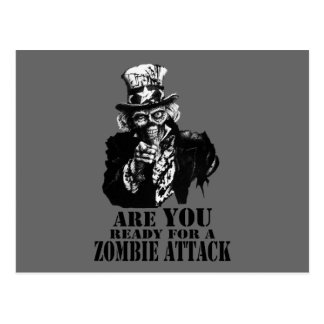 Ready For Zombie Attack Post Card