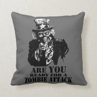 Ready For Zombie Attack Throw Pillow