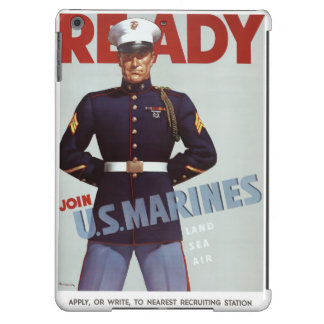 Ready Join U.S. Marines Vintage Military Poster Cover For iPad Air