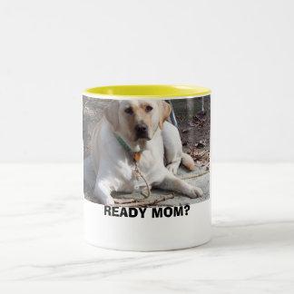 READY MOM? Two-Tone COFFEE MUG