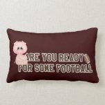 Ready Pig Football Pillow