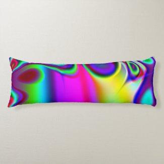 Ready Rainbow Fractal Body Pillow