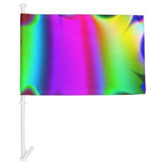 Ready Rainbow Fractal Car Flag
