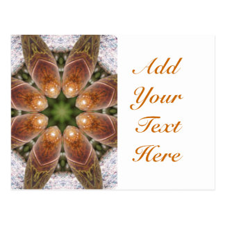 Ready Rockets Kaleidoscope Abstract Art Design Postcard