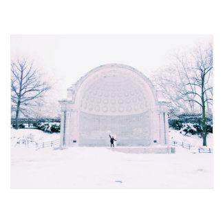 Ready, Set, Snow! NYC Central Park Winter Photo Postcard