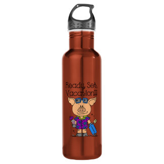 Ready Set Vacation Stainless Steel Water Bottle
