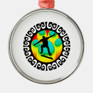 READY THE SESSION ROUND METAL CHRISTMAS ORNAMENT