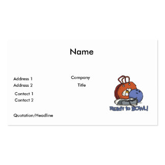 ready to bowl bowling design business card templates