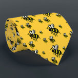 """Ready to Bumble #2 (As seen on Shark Tank) Tie<br><div class=""""desc"""">A swarm of cute little bees getting ready to bumble&quot;  Now with printing on both sides. This tie design was worn by Henry Miller of &quot;Henry&#39;s Humdingers&quot; on the hit t.v. show Shark Tank.</div>"""