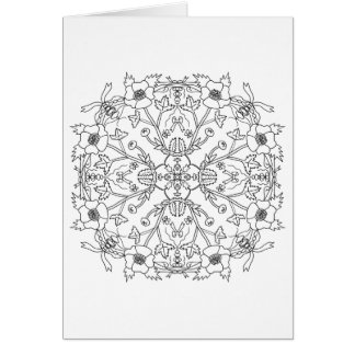 Ready to Color Buttercup Mandala Greeting Card