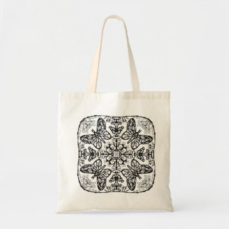 Ready to Color Butterfly Mandala Tote Budget Tote Bag